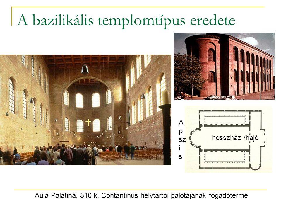 A bazilikális templomtípus eredete