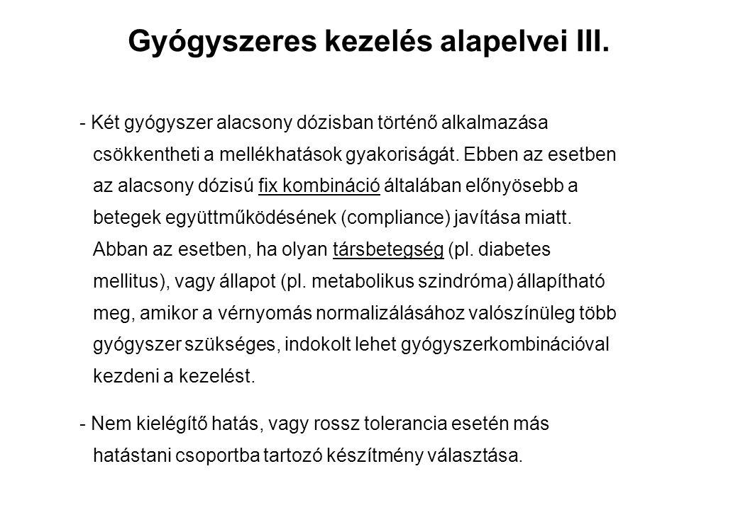Gyógyszeres kezelés alapelvei III.