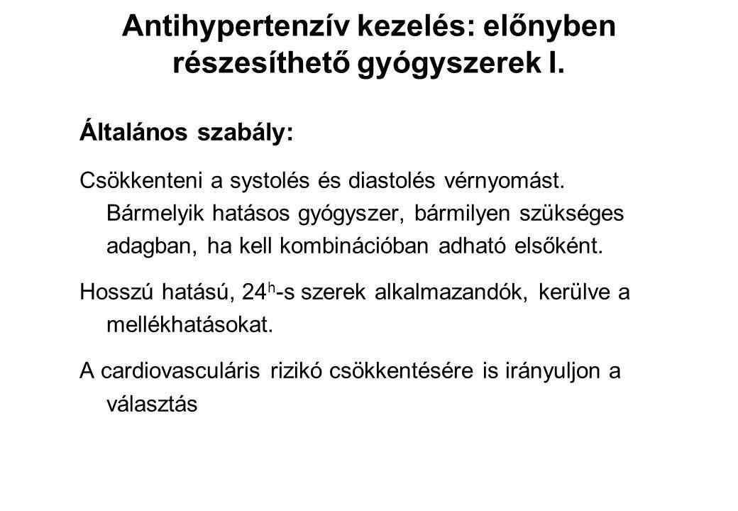 Antihypertenzív kezelés: előnyben részesíthető gyógyszerek I.