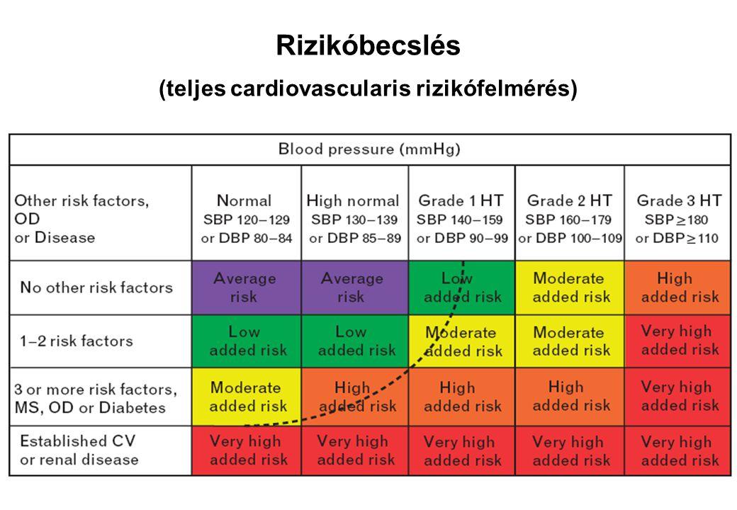 Rizikóbecslés (teljes cardiovascularis rizikófelmérés)