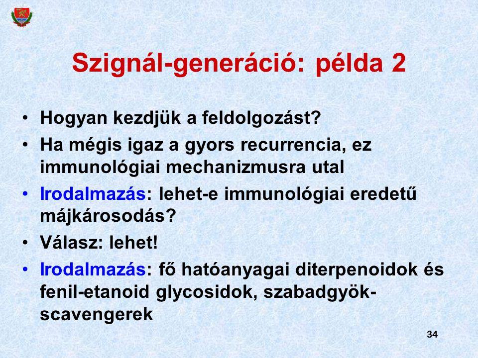 Szignál-generáció: példa 2