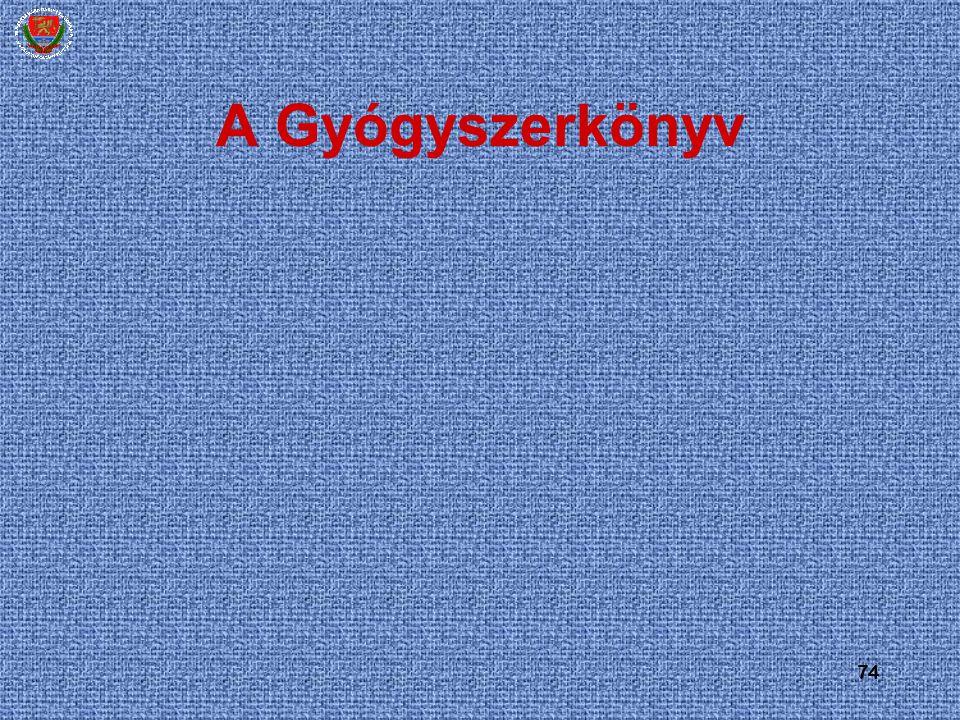 A Gyógyszerkönyv 74