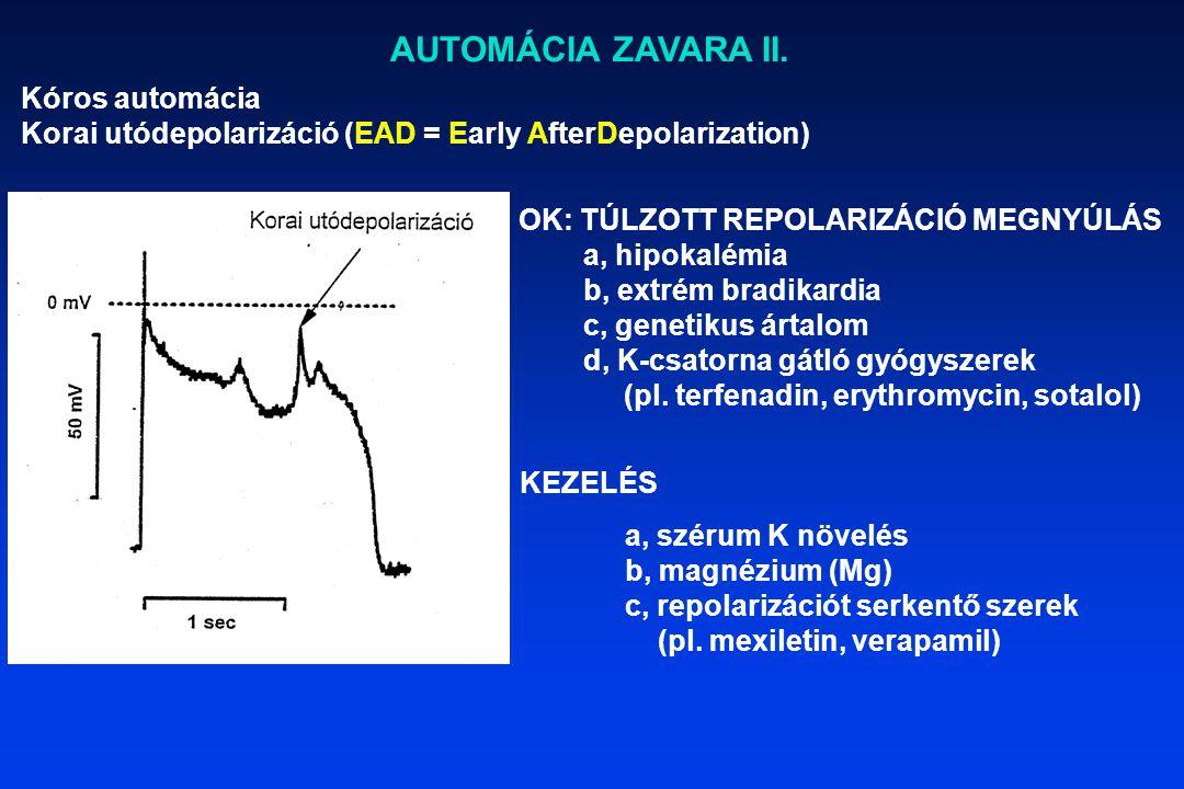 AUTOMÁCIA ZAVARA II. Kóros automácia