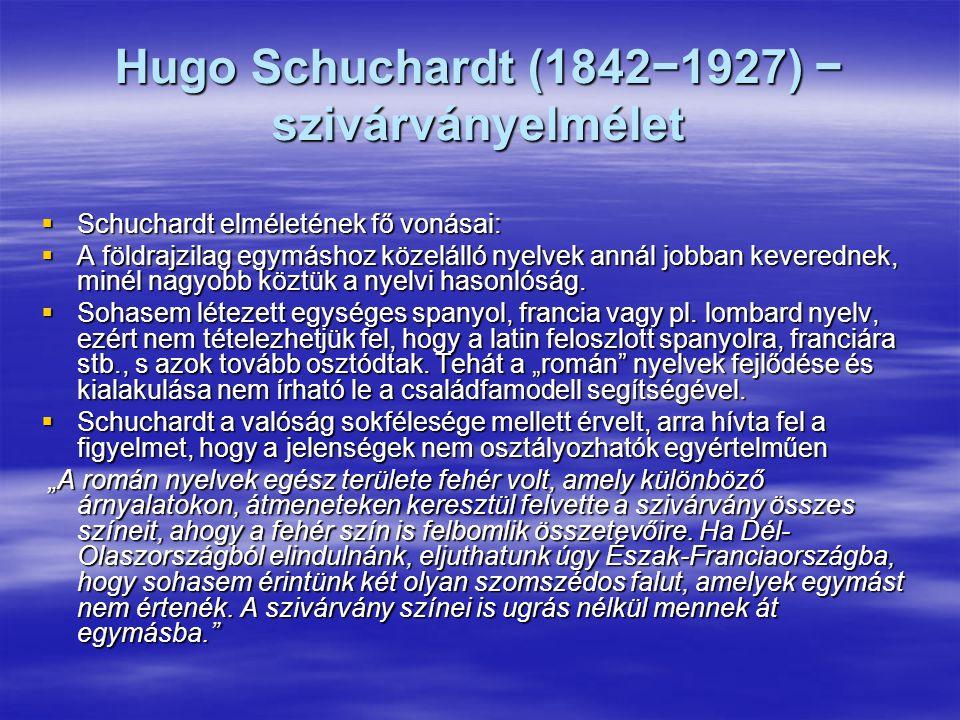 Hugo Schuchardt (1842−1927) − szivárványelmélet