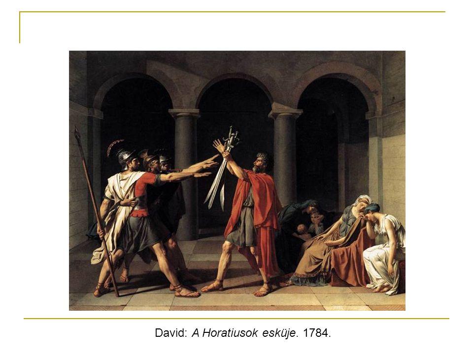 David: A Horatiusok esküje. 1784.