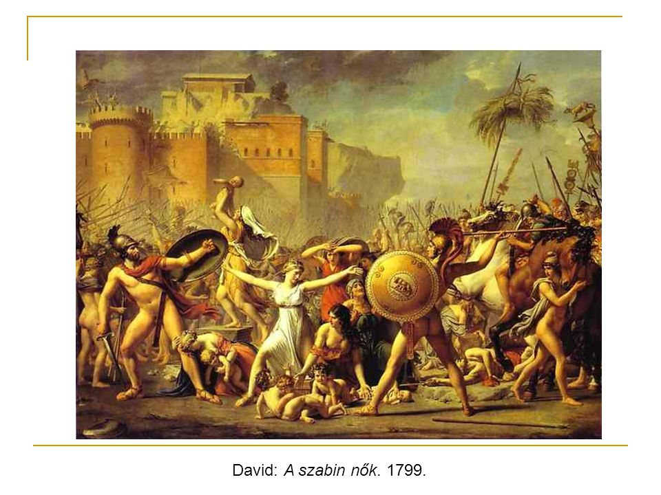 David: A szabin nők. 1799.