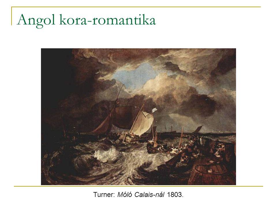 Turner: Móló Calais-nál 1803.