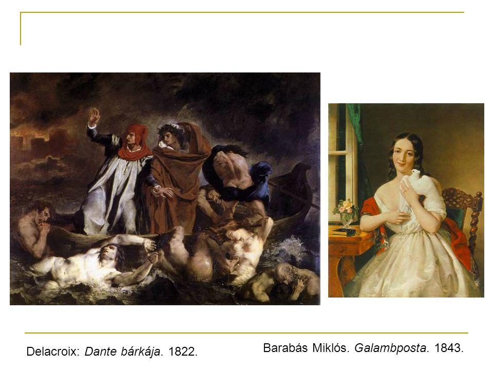 Barabás Miklós. Galambposta. 1843.