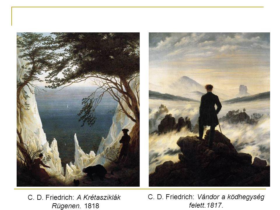 C. D. Friedrich: A Krétasziklák Rügenen. 1818