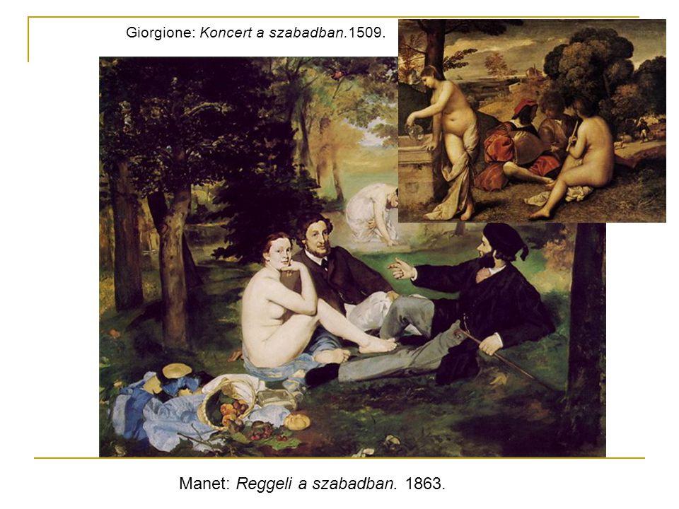 Manet: Reggeli a szabadban. 1863.