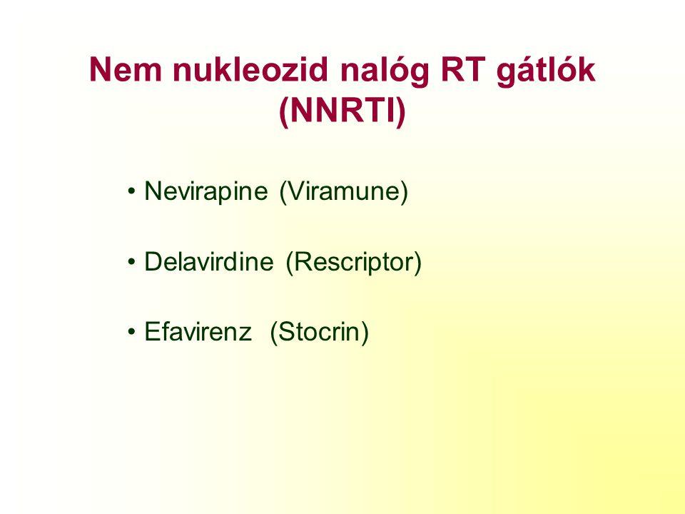 Nem nukleozid nalóg RT gátlók (NNRTI)