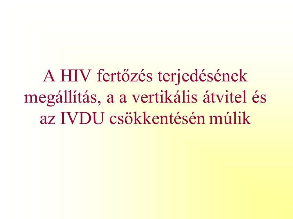 A HIV fertőzés terjedésének megállítás, a a vertikális átvitel és az IVDU csökkentésén múlik