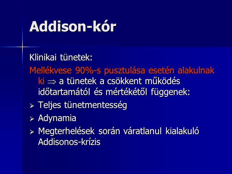 Addison-kór Klinikai tünetek: