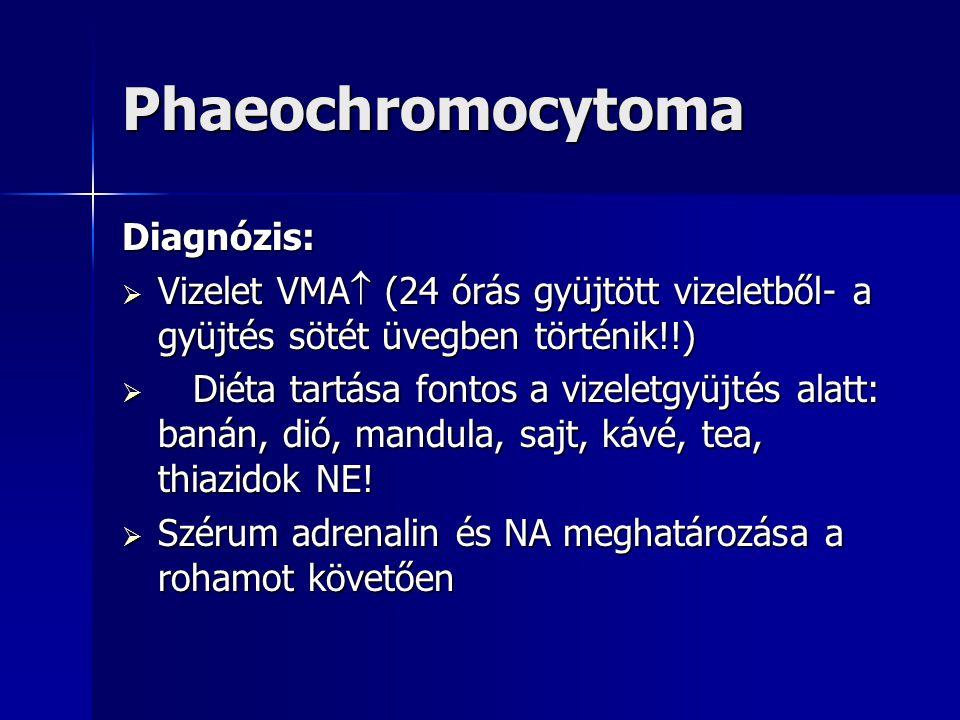 Phaeochromocytoma Diagnózis: