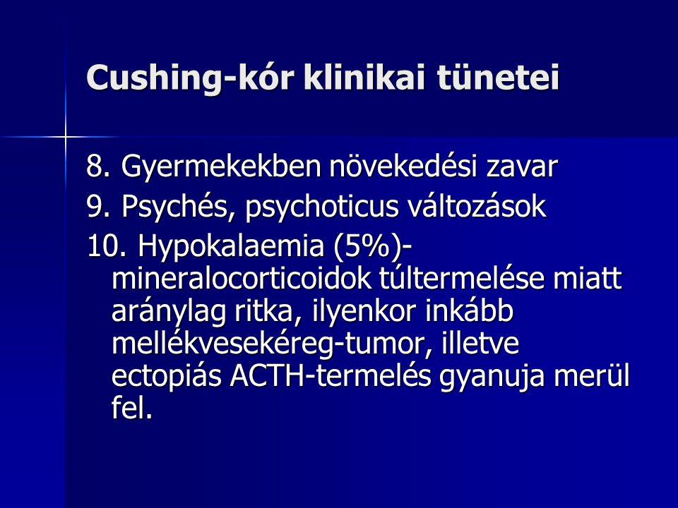 Cushing-kór klinikai tünetei