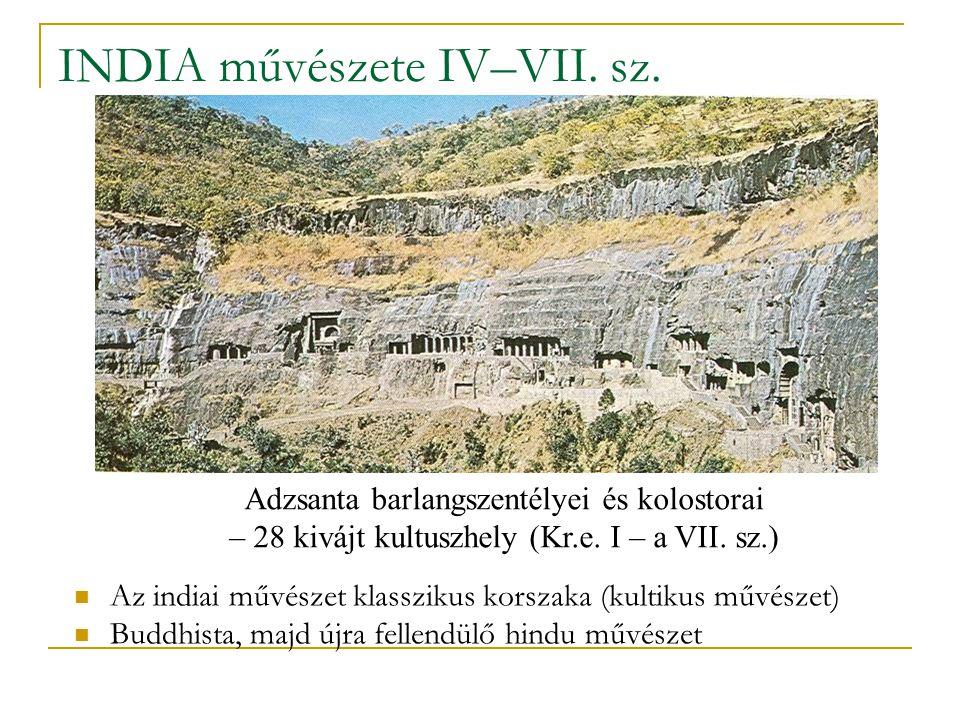 INDIA művészete IV–VII. sz.