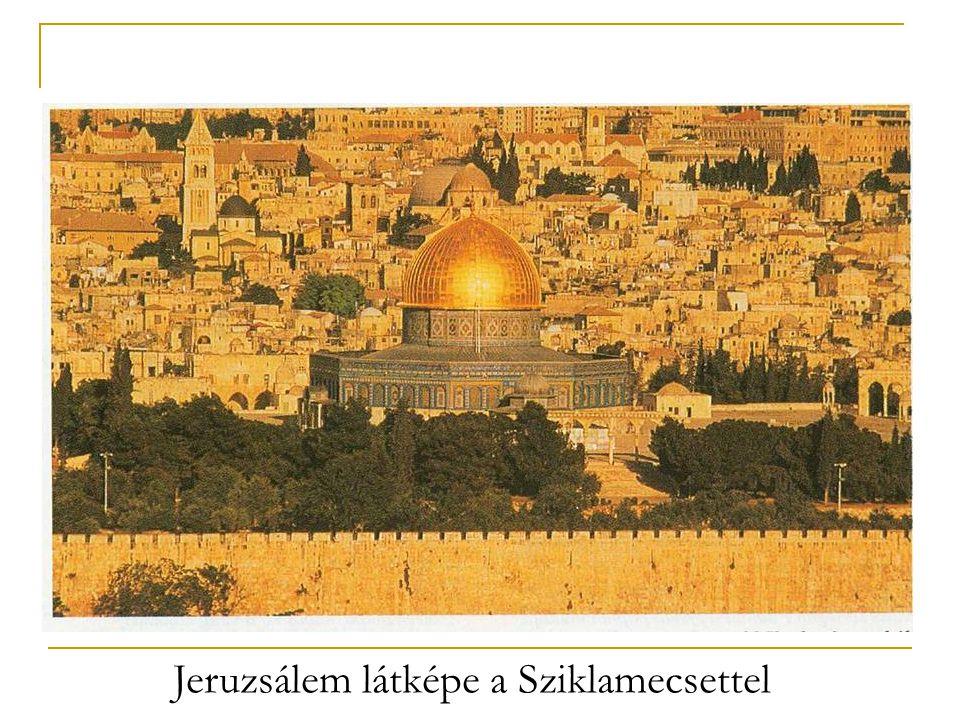 Jeruzsálem látképe a Sziklamecsettel