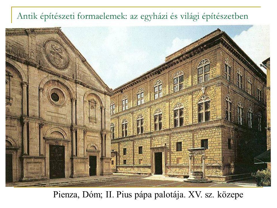 Antik építészeti formaelemek: az egyházi és világi építészetben