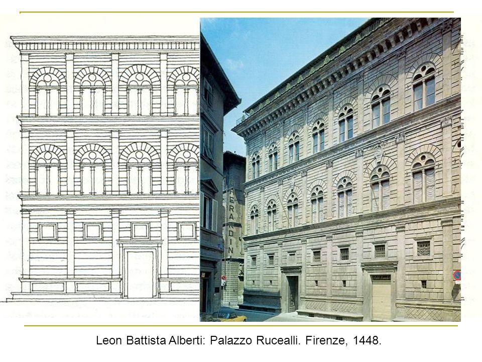 Leon Battista Alberti: Palazzo Rucealli. Firenze, 1448.