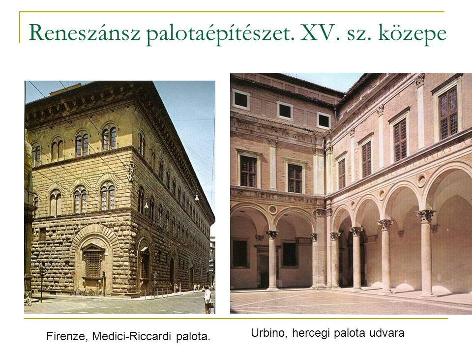 Reneszánsz palotaépítészet. XV. sz. közepe