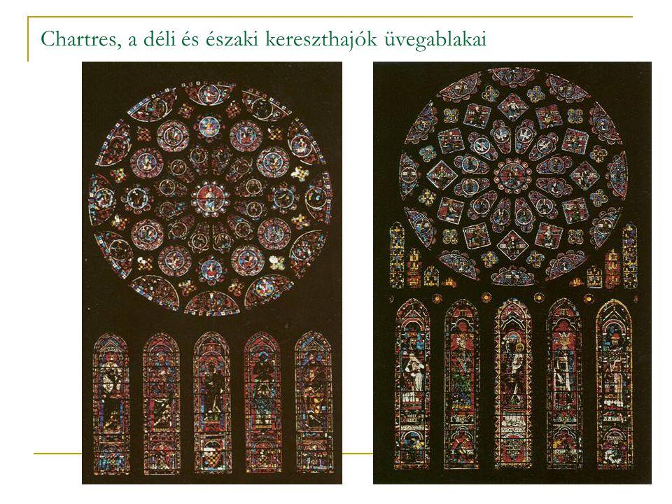 Chartres, a déli és északi kereszthajók üvegablakai