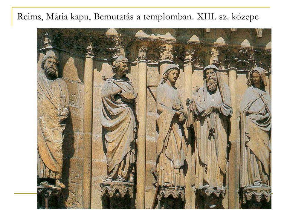 Reims, Mária kapu, Bemutatás a templomban. XIII. sz. közepe