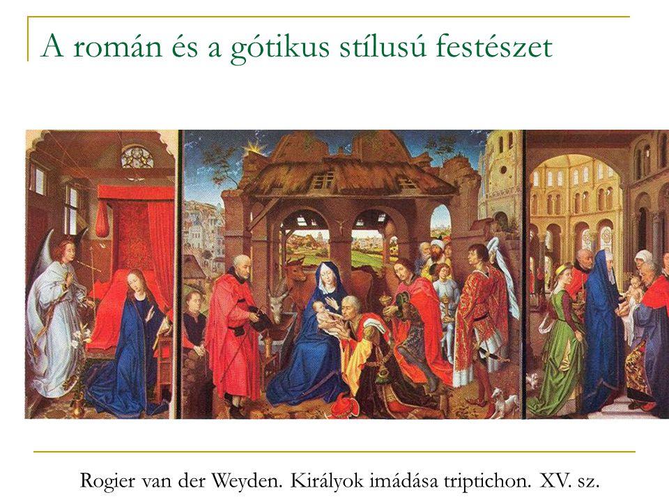 A román és a gótikus stílusú festészet