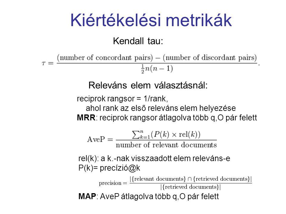 Kiértékelési metrikák