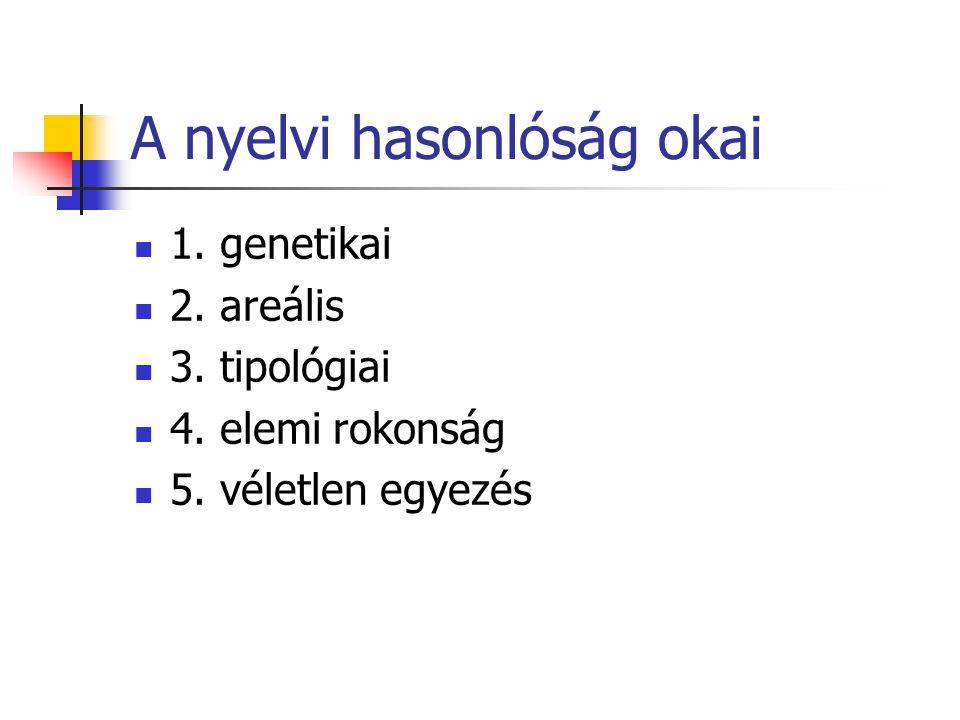 A nyelvi hasonlóság okai