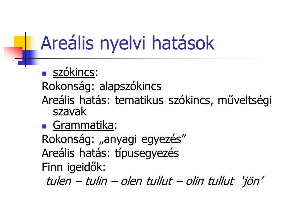 Areális nyelvi hatások
