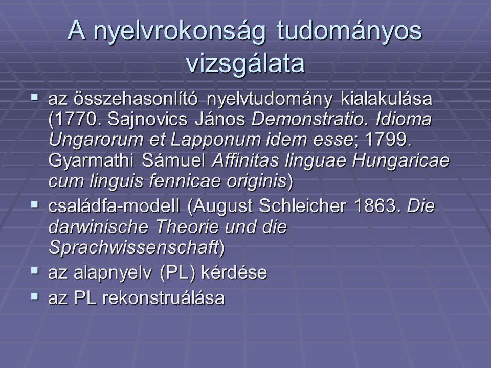 A nyelvrokonság tudományos vizsgálata