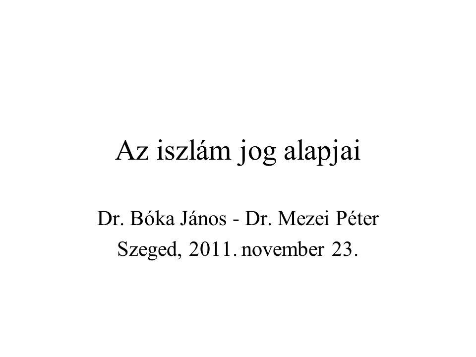 Dr. Bóka János - Dr. Mezei Péter Szeged, 2011. november 23.