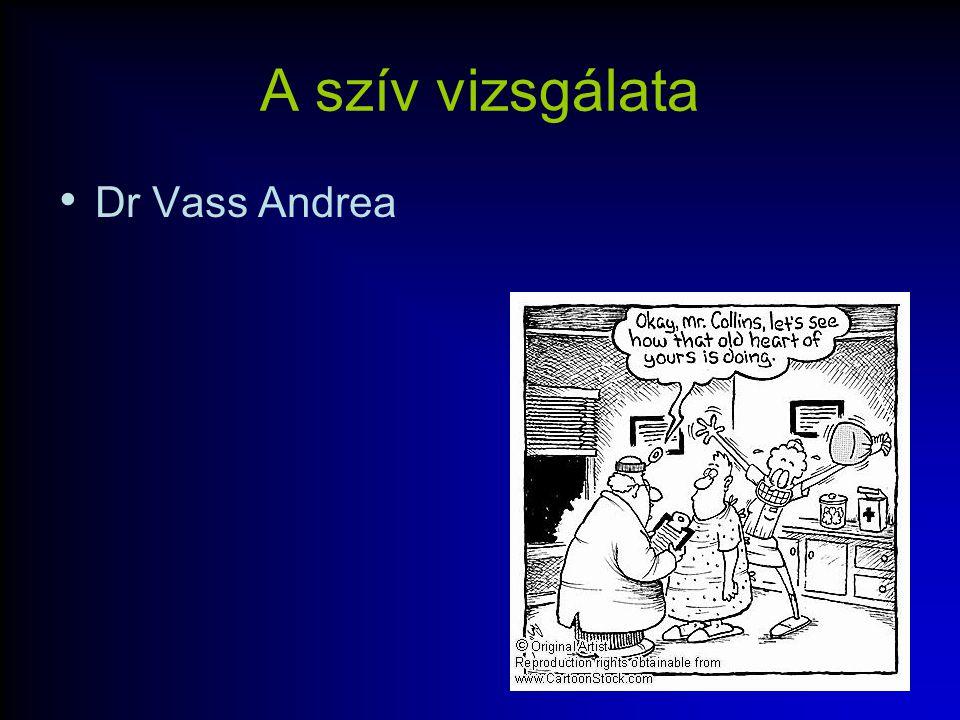 A szív vizsgálata Dr Vass Andrea
