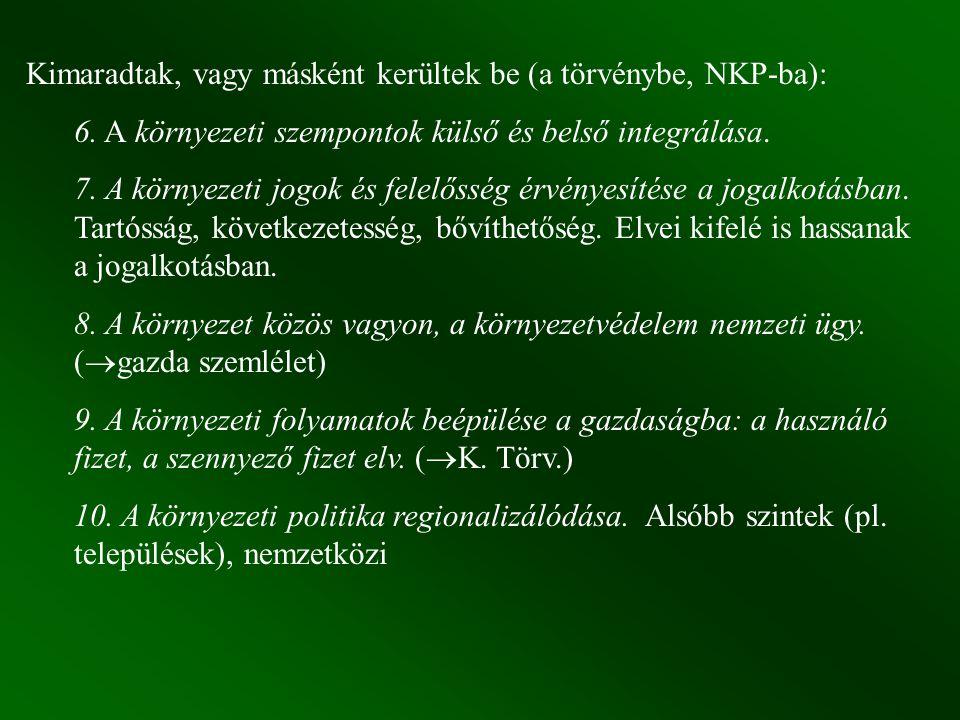 Kimaradtak, vagy másként kerültek be (a törvénybe, NKP-ba):