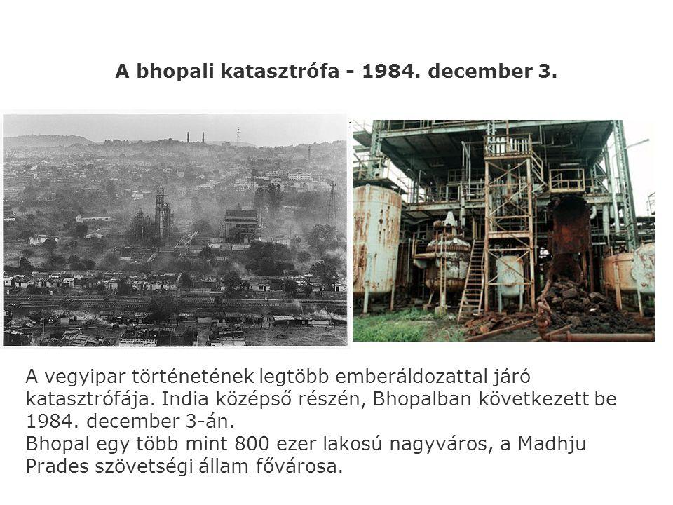 A bhopali katasztrófa - 1984. december 3.
