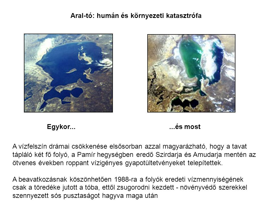 Aral-tó: humán és környezeti katasztrófa