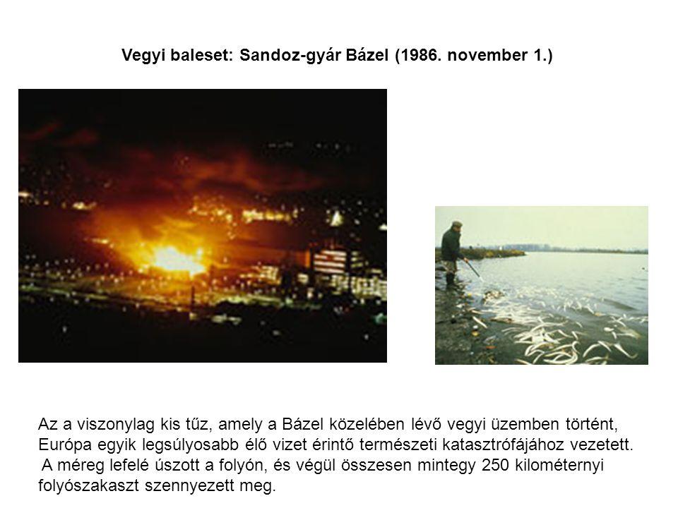 Vegyi baleset: Sandoz-gyár Bázel (1986. november 1.)