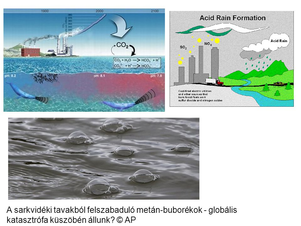 A sarkvidéki tavakból felszabaduló metán-buborékok - globális katasztrófa küszöbén állunk © AP