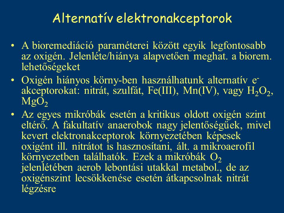 Alternatív elektronakceptorok