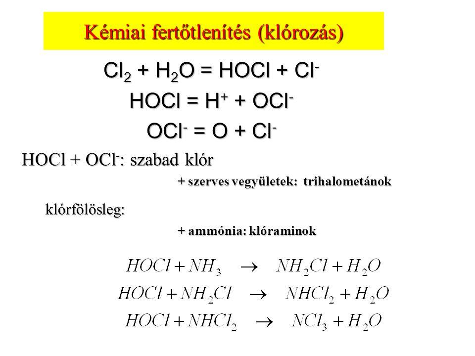 Kémiai fertőtlenítés (klórozás)