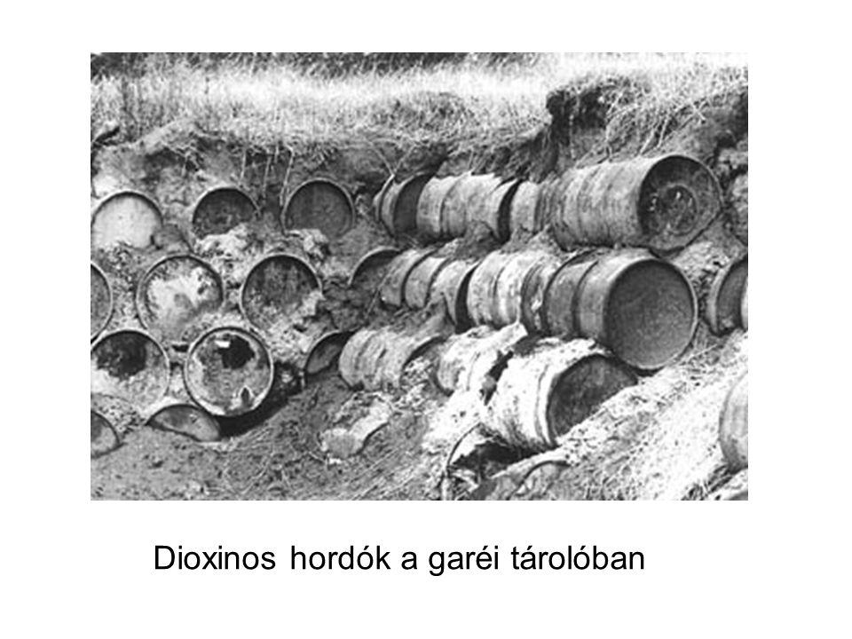 Dioxinos hordók a garéi tárolóban