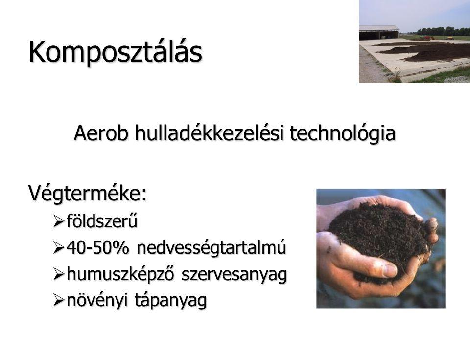Aerob hulladékkezelési technológia