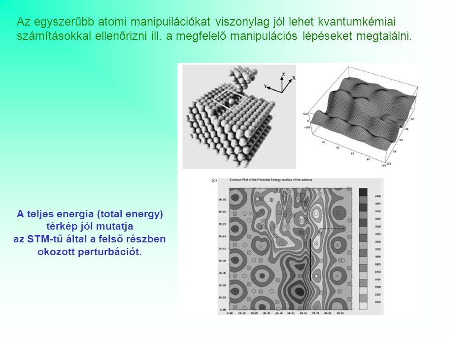 Az egyszerűbb atomi manipuilációkat viszonylag jól lehet kvantumkémiai számításokkal ellenőrizni ill. a megfelelő manipulációs lépéseket megtalálni.