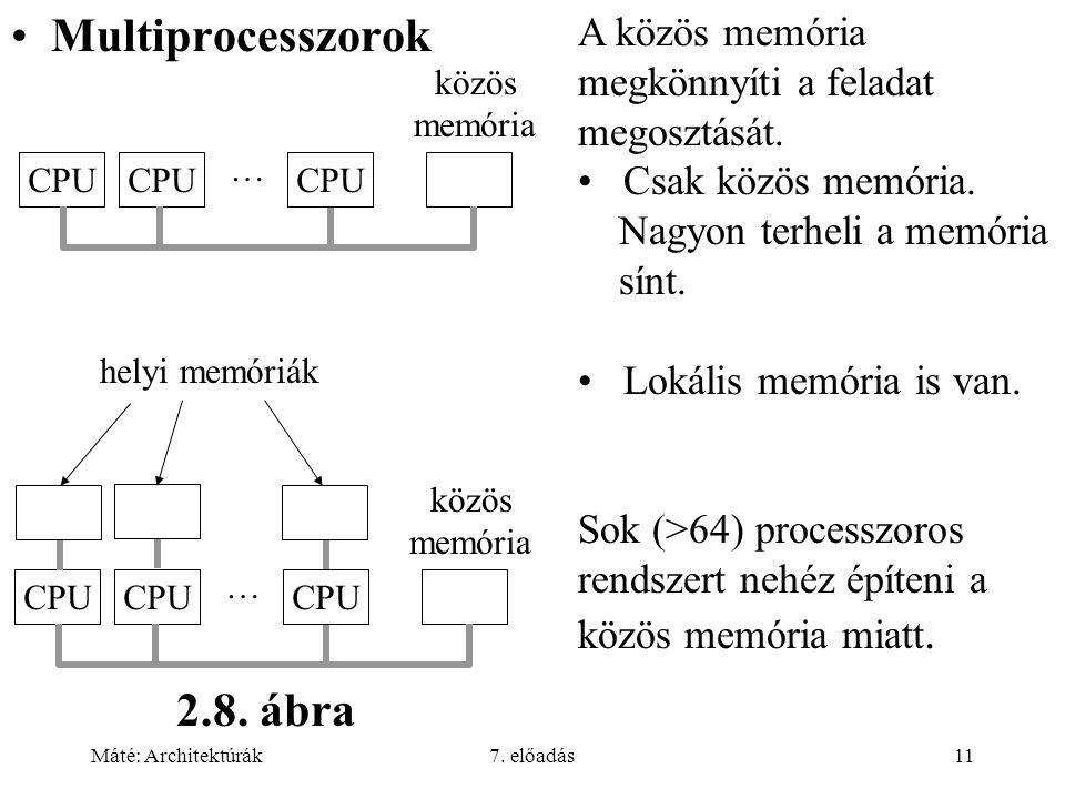 Multiprocesszorok 2.8. ábra