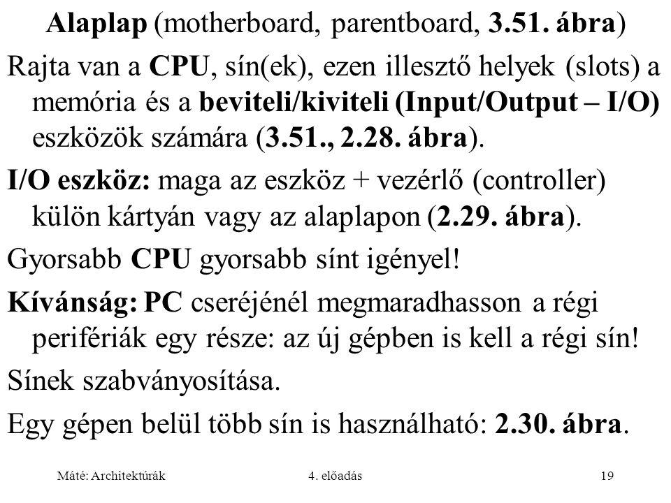 Alaplap (motherboard, parentboard, 3.51. ábra)