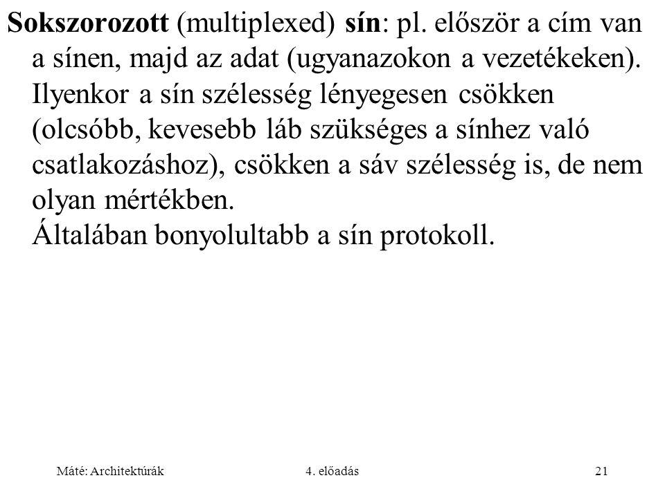 Sokszorozott (multiplexed) sín: pl