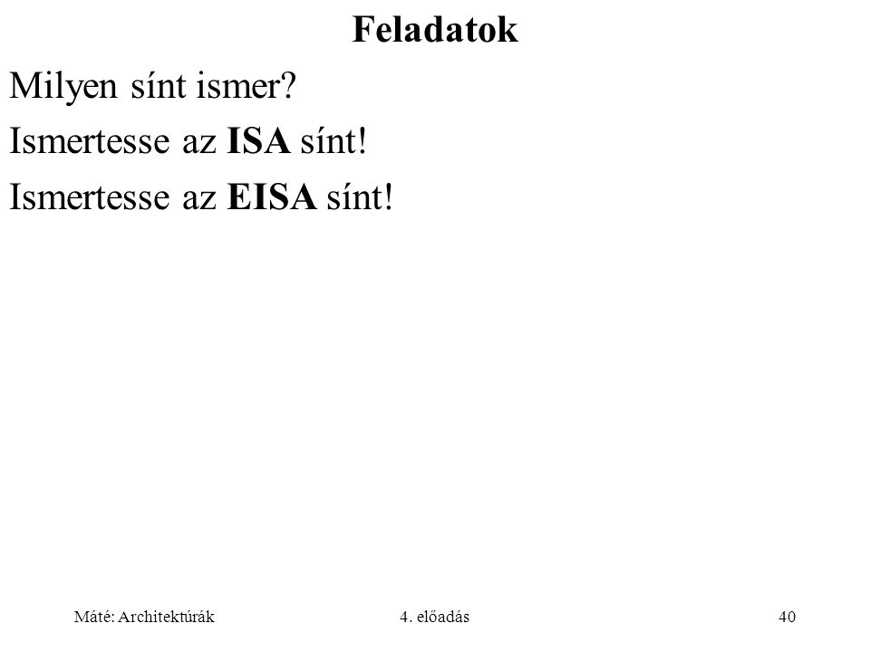 Ismertesse az EISA sínt!