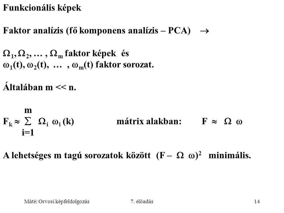 Faktor analízis (fő komponens analízis – PCA) 