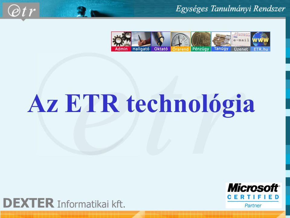 Az ETR technológia DEXTER Informatikai kft.