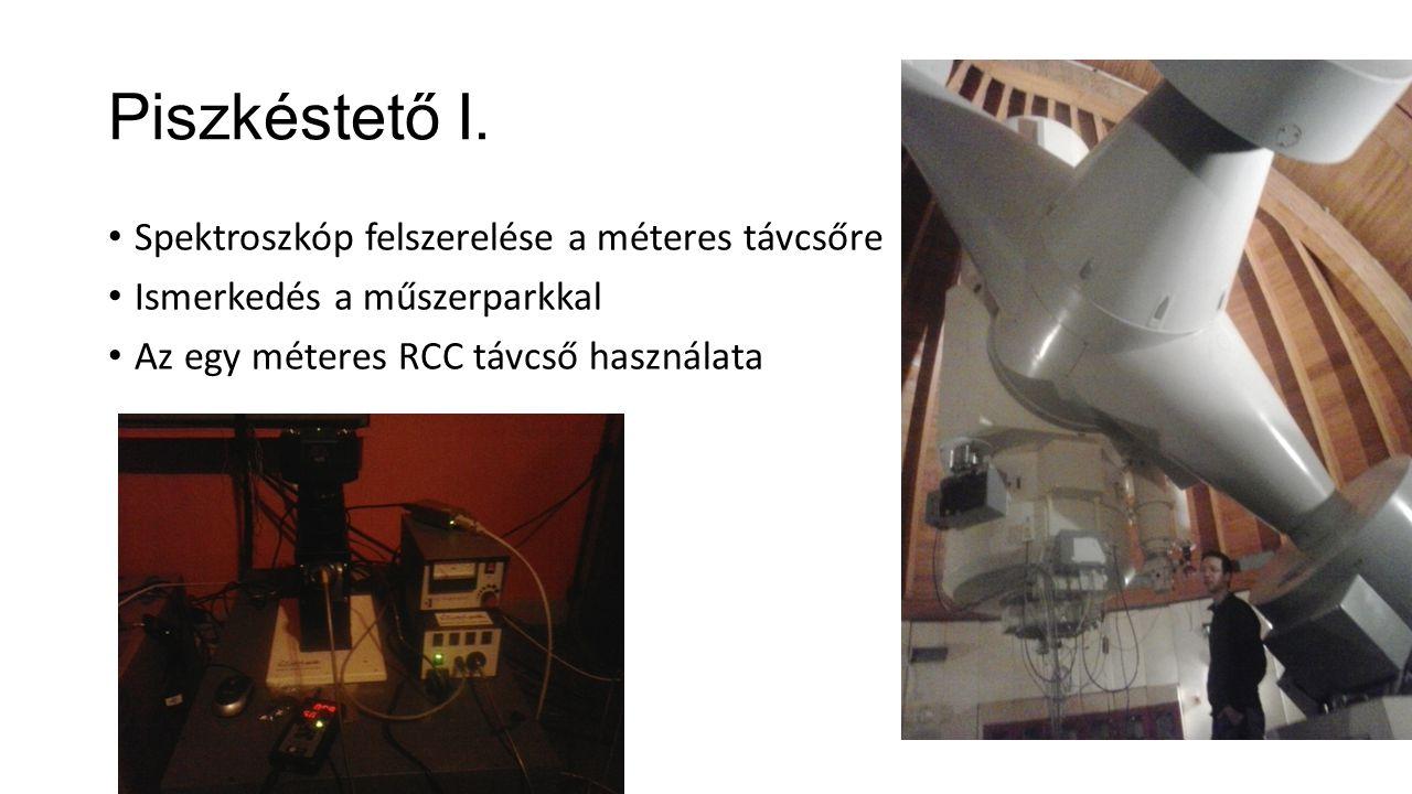 Piszkéstető I. Spektroszkóp felszerelése a méteres távcsőre